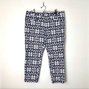 GAP skinny ankle Ikat blue pants